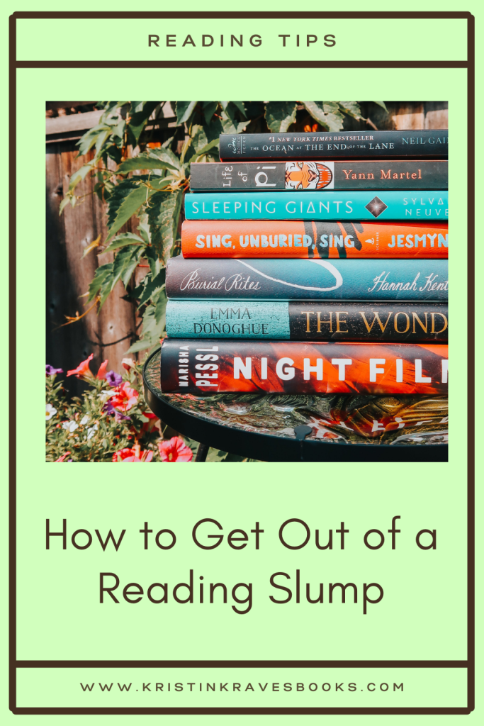 Pinterest How To Keep Out of a Reading Slump
